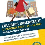 """""""Erlebnis Innenstadt"""" – Verkaufsoffener Sonntag am 1. Oktober 2017"""