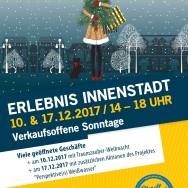 ERLEBNIS INNENSTADT am 10. und 17. Dezember 2017