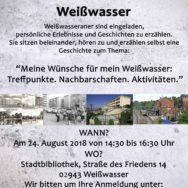 Zweites Erzählcafé in Weißwasser am 24. August 2018