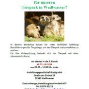 """Lust auf """"Werkeln"""" für unseren Tierpark in Weißwasser?"""